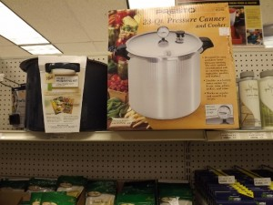 Pressure canner and canning accessories
